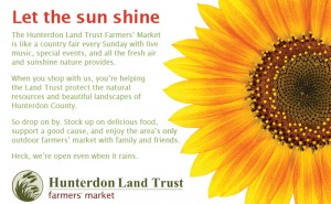 Hunterdon Land Trust Farmers Market-Sun Shine