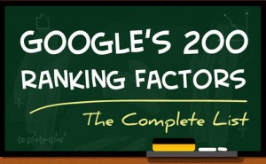googles ranking factors icon