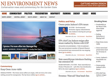 NJ Environment News, Gattuso Media Design