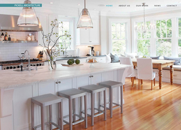 Pickell Architecture website, flemington, new jersey, gattuso media design