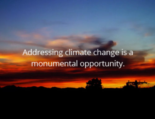 Addressing climate change is a …