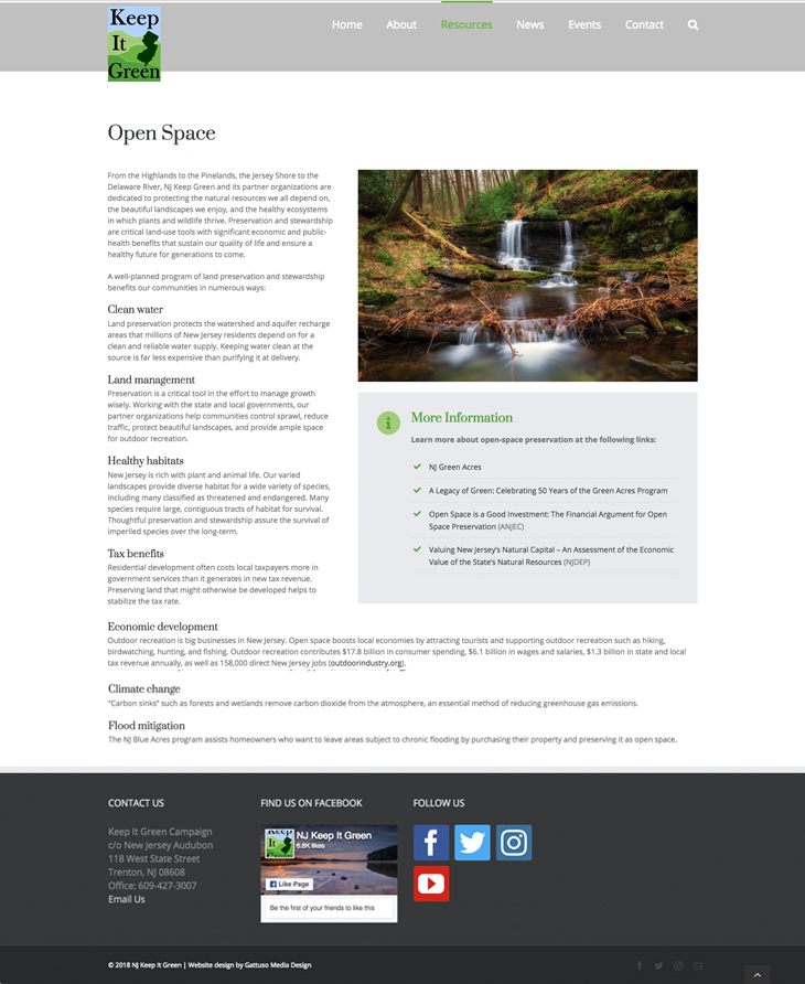 NJ Keep it Green website, Gattuso Media Design